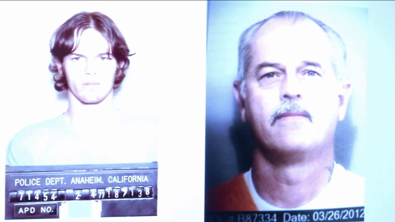 Brett Thomas, 56, is shown in undated booking and prison photos.