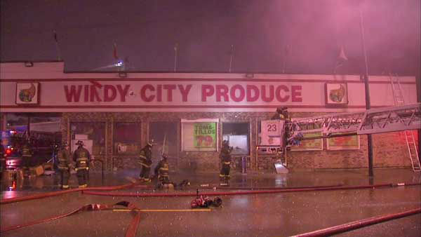 "<div class=""meta image-caption""><div class=""origin-logo origin-image none""><span>none</span></div><span class=""caption-text"">Investigators are looking into whether someone set fire to a grocery store in Chicago's South Old Irving Park neighborhood. (WLS Photo)</span></div>"