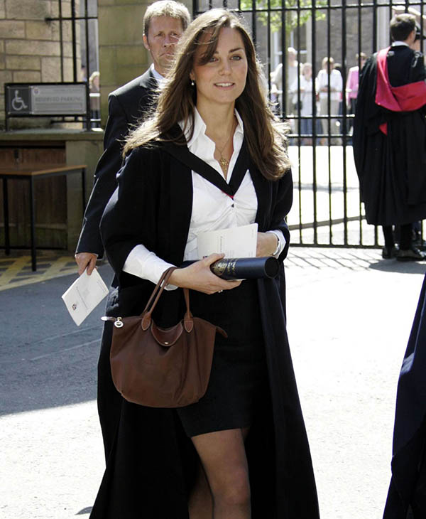 "<div class=""meta image-caption""><div class=""origin-logo origin-image ap""><span>AP</span></div><span class=""caption-text"">Kate Middleton leaves after attending their university graduation ceremony at St. Andrews University in St. Andrews, Scotland, Thursday, June 23, 2005. (AP)</span></div>"