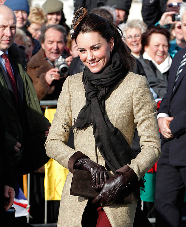 <div class='meta'><div class='origin-logo' data-origin='AP'></div><span class='caption-text' data-credit='AP'>Kate Middleton arrives for a naming ceremony at Trearddur Bay Lifeboat Station in Anglesey, Wales, Thursday Feb. 24, 2011.</span></div>