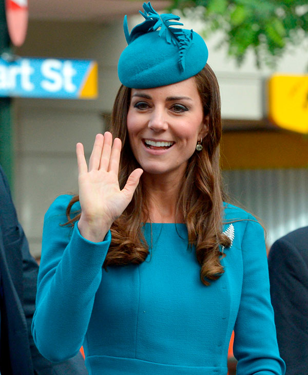 <div class='meta'><div class='origin-logo' data-origin='AP'></div><span class='caption-text' data-credit='AP'>Britain's Kate, the Duchess of Cambridge, waves after a Palm Sunday service at the Cathedral in Dunedin, New Zealand, Sunday, April 13, 2014.</span></div>