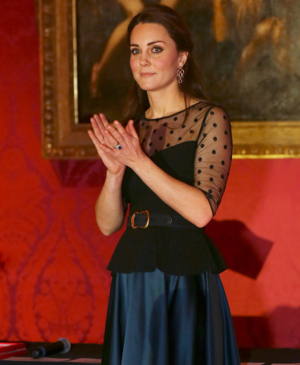 <div class='meta'><div class='origin-logo' data-origin='AP'></div><span class='caption-text' data-credit='AP'>Britain's Kate, Duchess of Cambridge attends the Place2be Wellbeing in Schools Award at Kensington Palace, London Wednesday, Nov. 19, 2014.</span></div>