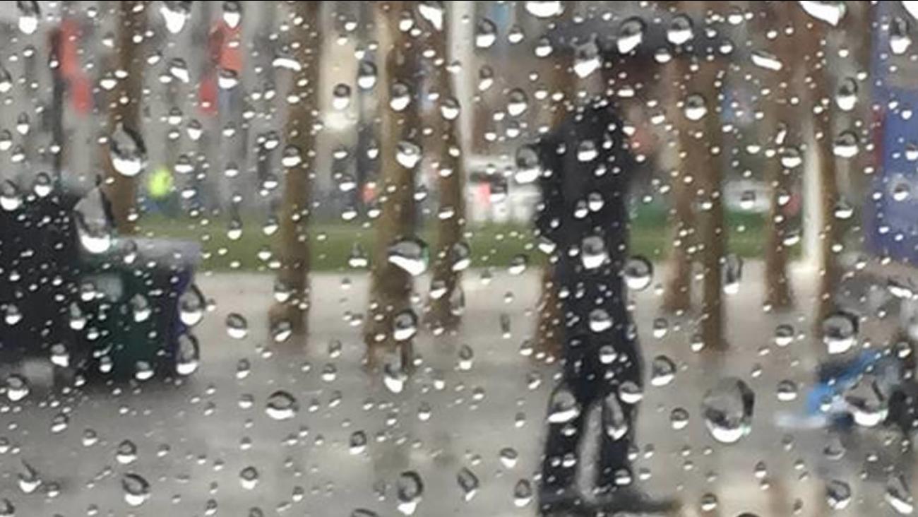 Steady rain falls in San Francisco on Friday, Feb. 6, 2015.