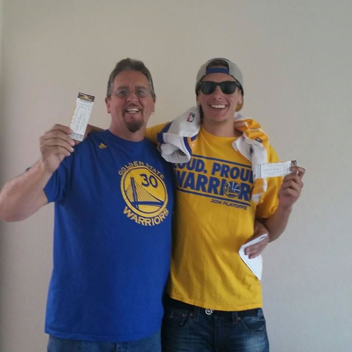 <div class='meta'><div class='origin-logo' data-origin='none'></div><span class='caption-text' data-credit='Photo sent to KGO-TV by Debbie Newman/Facebook'>Golden State Warriors fans are showing off their #DubNation pride! Tag your photos on Facebook, Twitter, Google Plus, or Instagram using #DubsOn7!</span></div>
