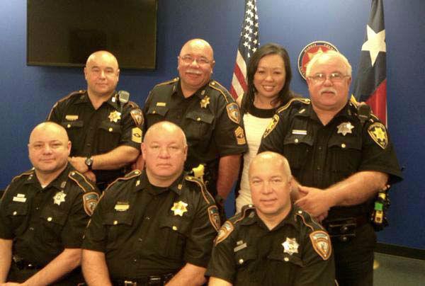 "<div class=""meta image-caption""><div class=""origin-logo origin-image none""><span>none</span></div><span class=""caption-text"">Miya Shay with six brothers who are all deputies (KTRK Photo)</span></div>"