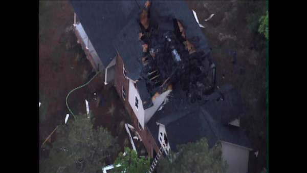 """<div class=""""meta image-caption""""><div class=""""origin-logo origin-image none""""><span>none</span></div><span class=""""caption-text"""">Firefighters in Fayetteville are investigating three house fires in the 2700 block of Rivercliff Road off Eastwood Avenue Tuesday morning. (Photo/Chopper11 HD)</span></div>"""