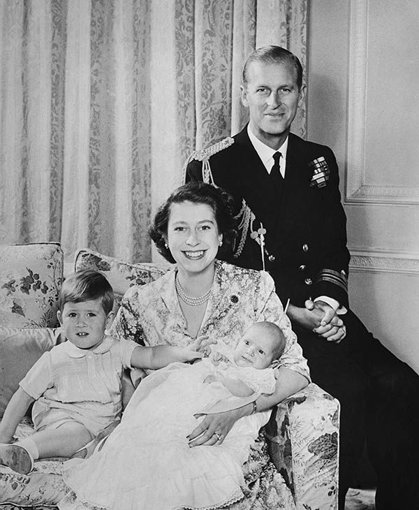 "<div class=""meta image-caption""><div class=""origin-logo origin-image none""><span>none</span></div><span class=""caption-text"">The Duke of Edinburgh, his wife, Princess Elizabeth and their two children, Prince Charles and Princess Anne, in an official photograph released on January 9, 1951. (AP)</span></div>"