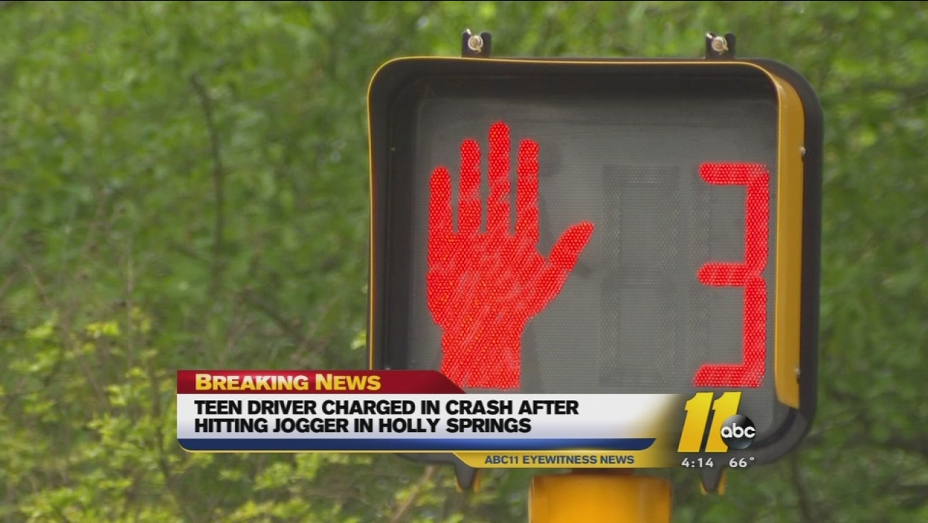 Driver charged after striking jogger in Holly Springs