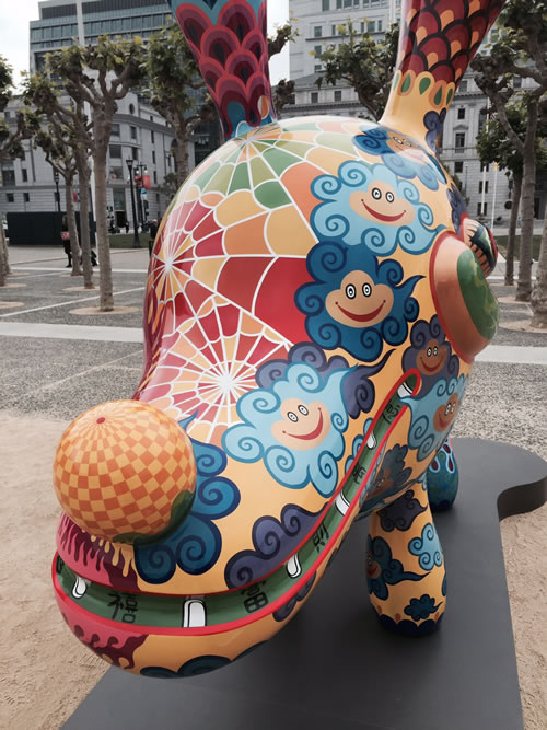 """<div class=""""meta image-caption""""><div class=""""origin-logo origin-image none""""><span>none</span></div><span class=""""caption-text"""">A """"Fancy Animal Carnival"""" was officially unveiled in San Francisco's Civic Center April 21, 2015. The public artwork is by Taiwanese artist Hung Yi. (KGO-TV)</span></div>"""