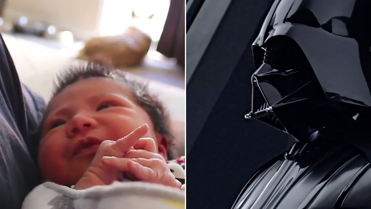 Use The Force Dad Man Uses Darth Vader Breath To Lull