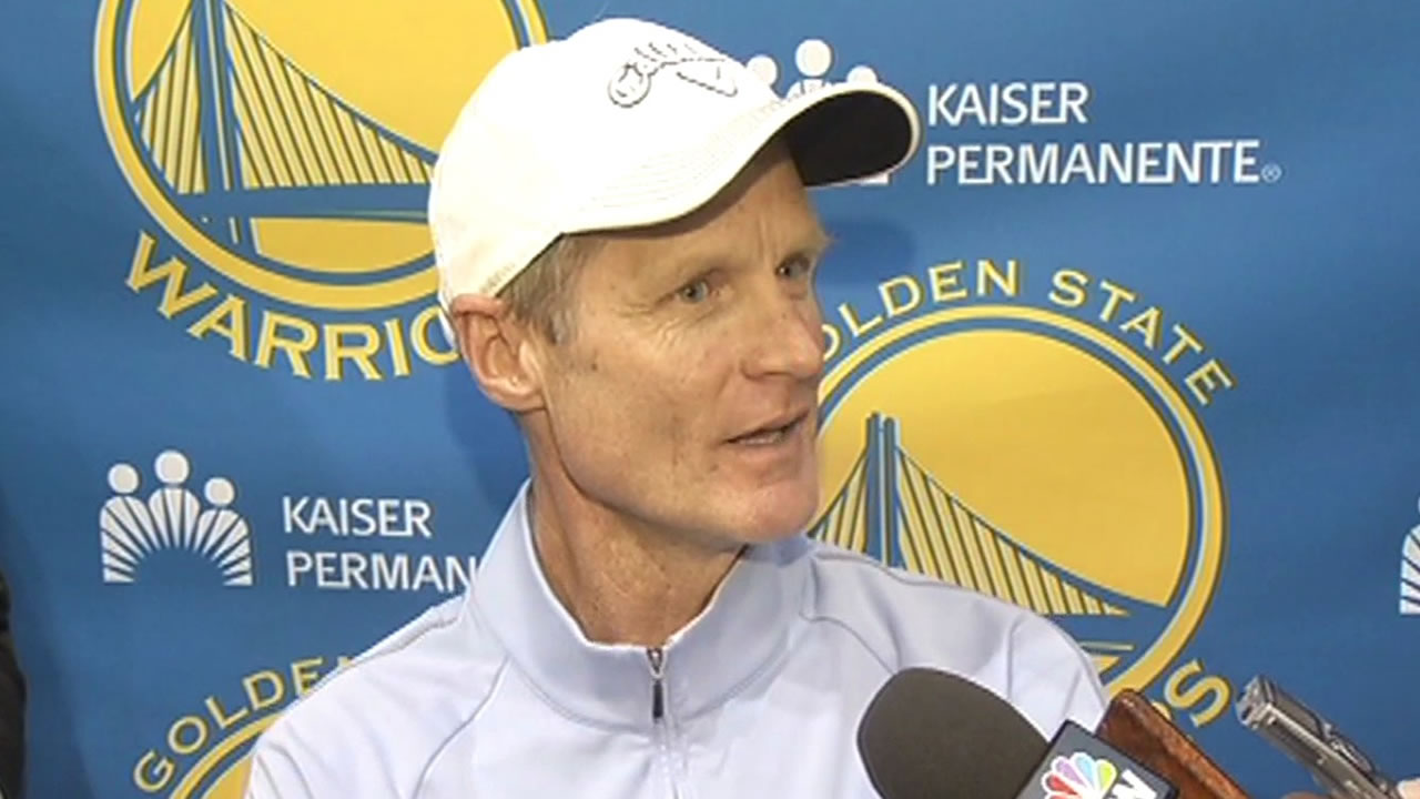 Warriors head coach Steve Kerr