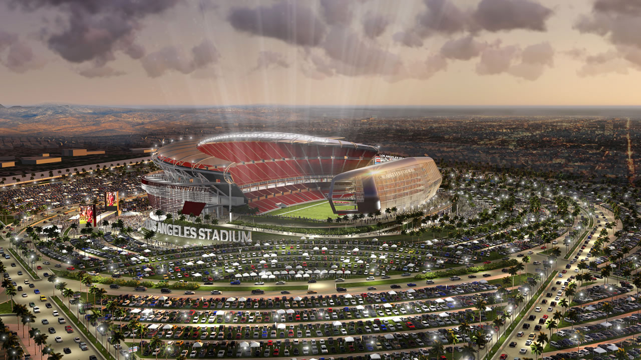 artist rendering provided by MANICA Architecture shows an artist's rendering of a newly proposed NFL stadium in the city of Carson,