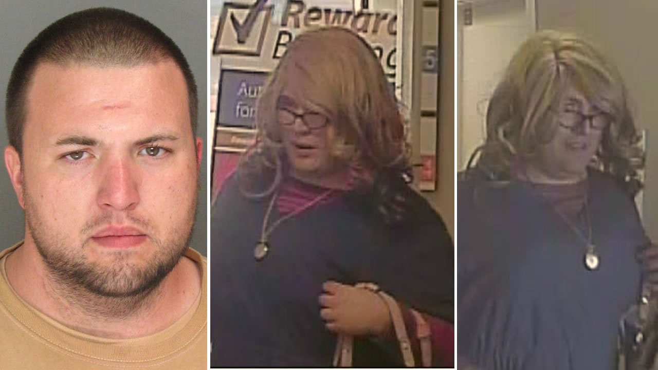 "Police have arrested 31-year-old Sand City resident Brandon Calantoc in connection with the ""Mrs. Doubtfire"" bank robbery in Santa Cruz, Calif. on April 3, 2015."