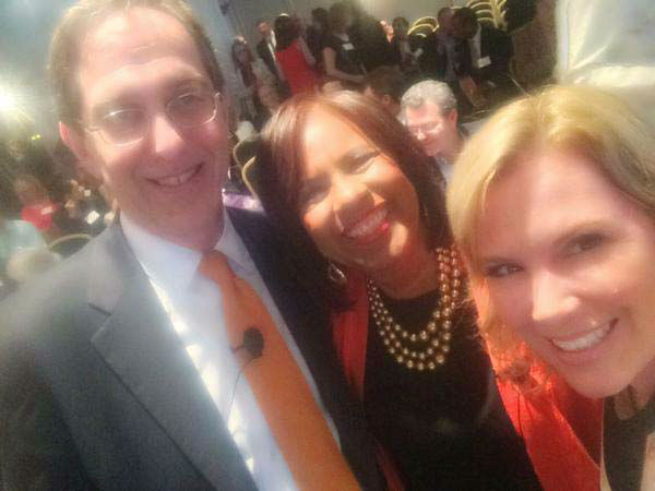 """<div class=""""meta image-caption""""><div class=""""origin-logo origin-image none""""><span>none</span></div><span class=""""caption-text"""">Casey Curry and Melanie Lawson with the new president of Princeton University (KTRK Photo)</span></div>"""