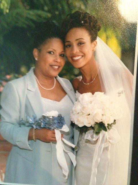 <div class='meta'><div class='origin-logo' data-origin='none'></div><span class='caption-text' data-credit='KTRK Photo'>Gina Gaston and her mom on her wedding day</span></div>