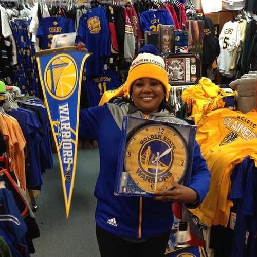 <div class='meta'><div class='origin-logo' data-origin='none'></div><span class='caption-text' data-credit='KGO-TV/Carolyn Tyler'>Golden State Warriors super fan Carolyn Tyler shows off her #DubNation pride! Tag your photos on Facebook, Twitter, Google Plus, or Instagram using #DubsOn7!</span></div>