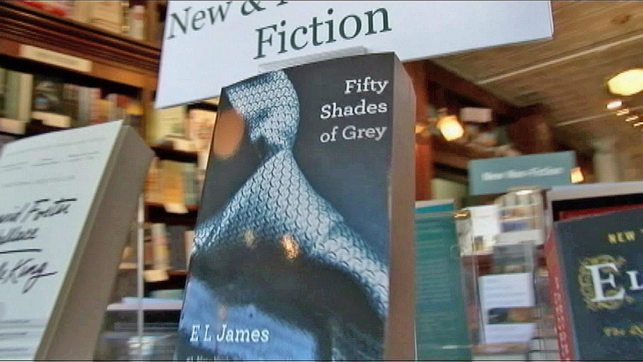 The book 'Fifty Shades of Grey' is seen on display in this file photo.
