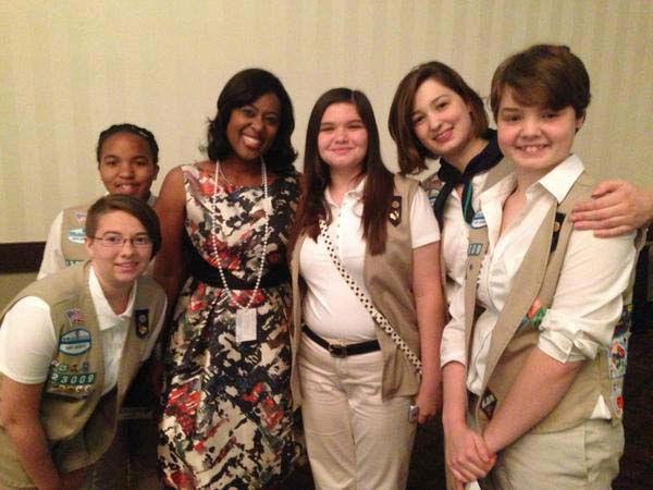 "<div class=""meta image-caption""><div class=""origin-logo origin-image none""><span>none</span></div><span class=""caption-text"">Sharron Melton, a former Girl Scout herself, with a group of girls (KTRK Photo)</span></div>"