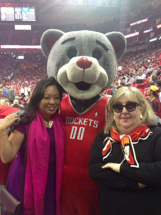 """<div class=""""meta image-caption""""><div class=""""origin-logo origin-image none""""><span>none</span></div><span class=""""caption-text"""">Miya Shay, Clutch, and a friend at the Rockets game (KTRK Photo)</span></div>"""