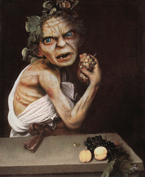 <div class='meta'><div class='origin-logo' data-origin='none'></div><span class='caption-text' data-credit='Photo/Benedicte Lacroix'>Gollum from ''Lord of the Rings'' in ''Le Jeune Bacchus malade'' by Le Caravage</span></div>