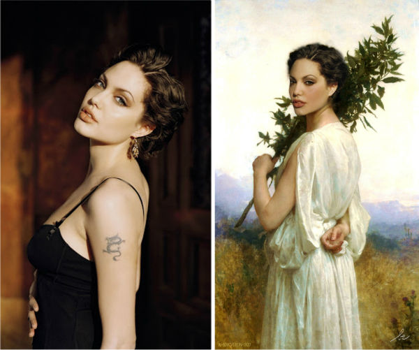 <div class='meta'><div class='origin-logo' data-origin='none'></div><span class='caption-text' data-credit='Photo/Benedicte Lacroix'>Angelina Jolie in ''Laurel Branch'' by William Adolphe Bouguereau</span></div>