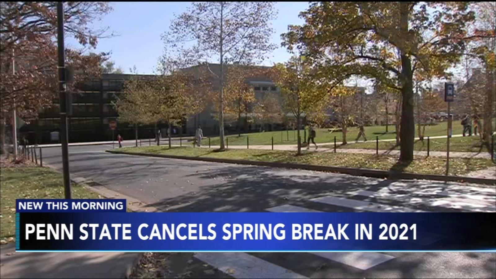 Penn State Spring 2021 Calendar Penn State University cancels spring break in 2021   6abc Philadelphia