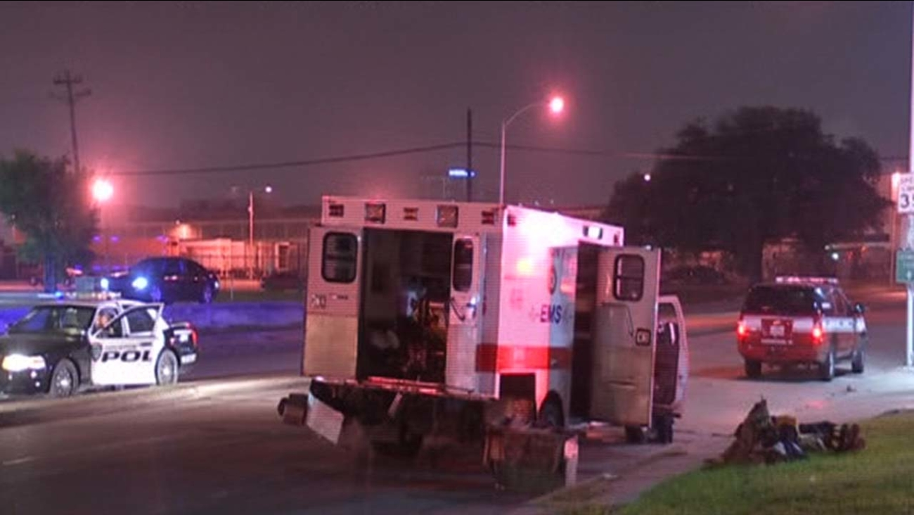 A car crashed into an ambulance on Houston's south side