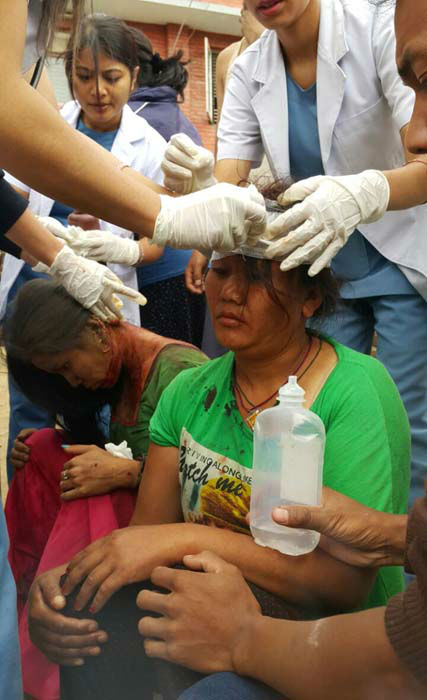 "<div class=""meta image-caption""><div class=""origin-logo origin-image none""><span>none</span></div><span class=""caption-text"">Injured people receive treatment in Kathmandu, Nepal (AP Photo/ Tashi Sherpa)</span></div>"
