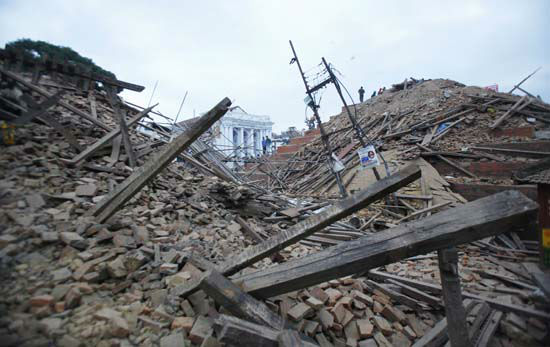 "<div class=""meta image-caption""><div class=""origin-logo origin-image none""><span>none</span></div><span class=""caption-text"">Debris lie at Durbar Square after an earthquake in Kathmandu, Nepal (AP Photo/ Niranjan Shrestha)</span></div>"