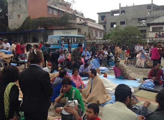 "<div class=""meta image-caption""><div class=""origin-logo origin-image none""><span>none</span></div><span class=""caption-text"">Patients wait at the parking lot of Norvic International Hospital after the earthquake (AP Photo/ Binaj Gurubacharya)</span></div>"