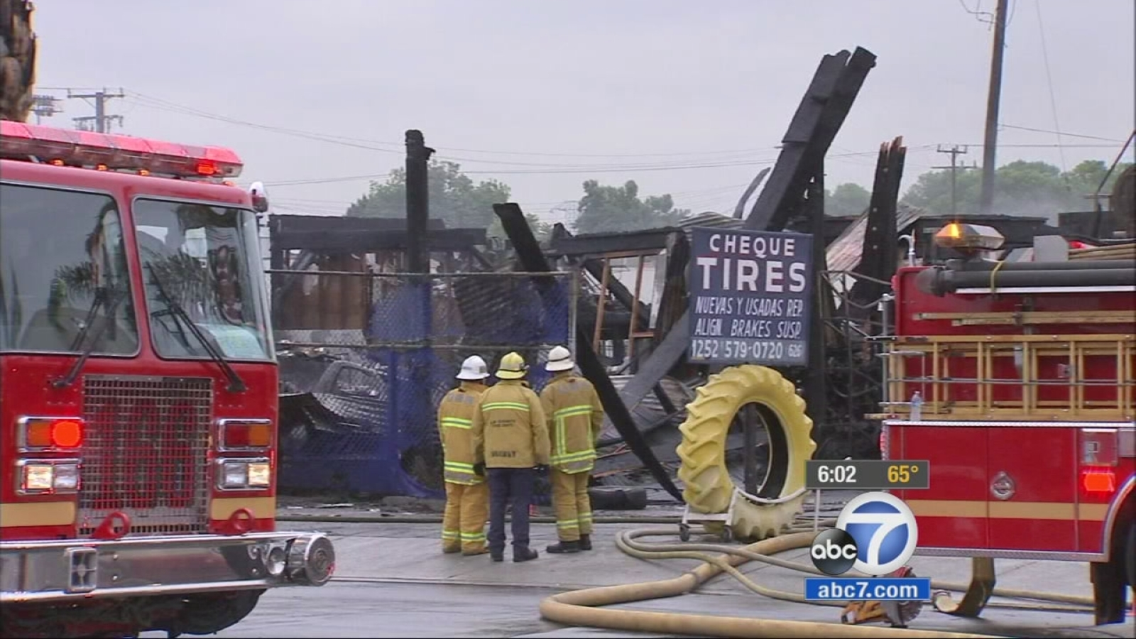 3 Burned Bos Found In South El Monte Tire Fire