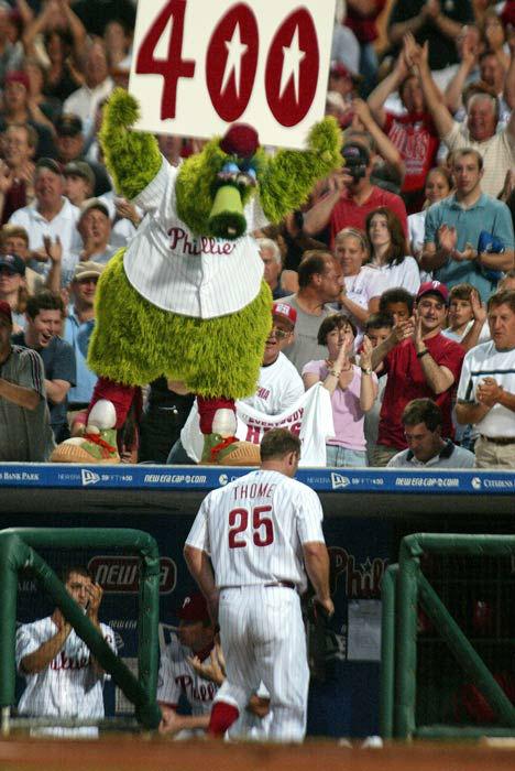 "<div class=""meta image-caption""><div class=""origin-logo origin-image none""><span>none</span></div><span class=""caption-text"">Philadelphia Phillies' Jim Thome responds to cheers after hitting his 400th career homer on Monday, June 14, 2004, in Philadelphia. (AP Photo/ H RUMPH JR)</span></div>"