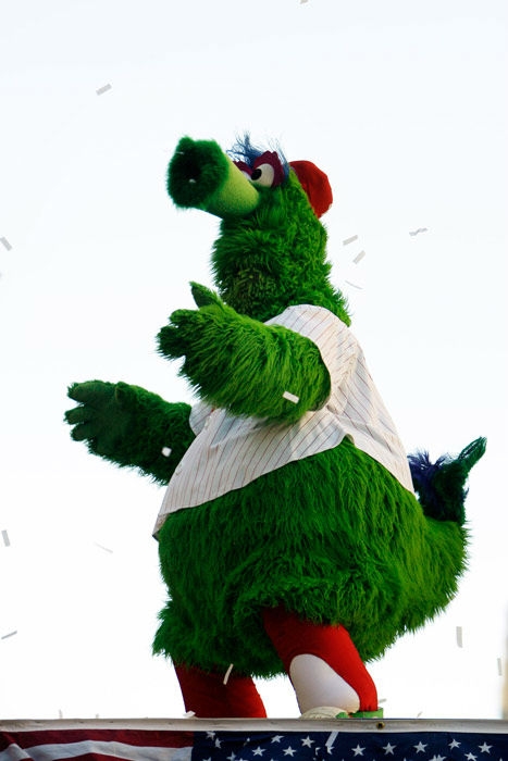 "<div class=""meta image-caption""><div class=""origin-logo origin-image none""><span>none</span></div><span class=""caption-text"">The Philadelphia Phillies mascot the Phillie Phanatic is seen during a jubilant victory parade in downtown Philadelphia Friday, Oct. 31, 2008. (AP Photo/ Matt Rourke)</span></div>"