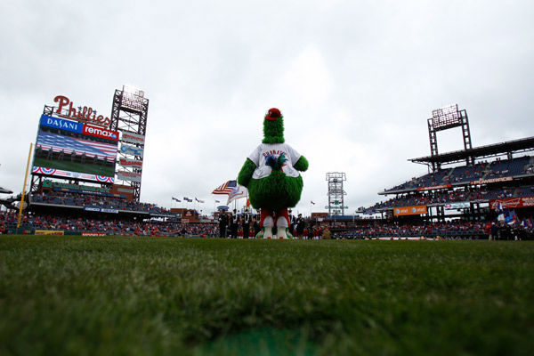 <div class='meta'><div class='origin-logo' data-origin='none'></div><span class='caption-text' data-credit='AP Photo/ Matt Slocum'>The Phillie Phanatic stands during the opening day ceremonies before a baseball game against the Houston Astros, Friday, April 1, 2011, in Philadelphia.</span></div>