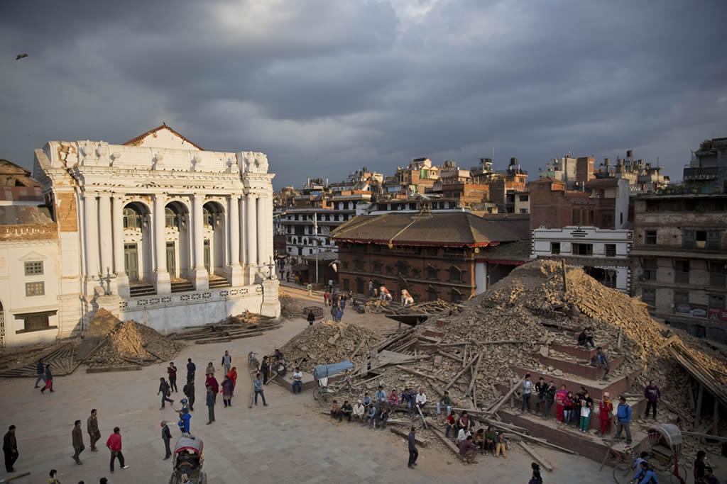 "<div class=""meta image-caption""><div class=""origin-logo origin-image none""><span>none</span></div><span class=""caption-text"">A general view of the Basantapur Durbar Square that was damaged in Saturday's earthquake in Kathmandu, Nepal, Sunday, April 26, 2015. (AP Photo/Bernat Armangue)</span></div>"