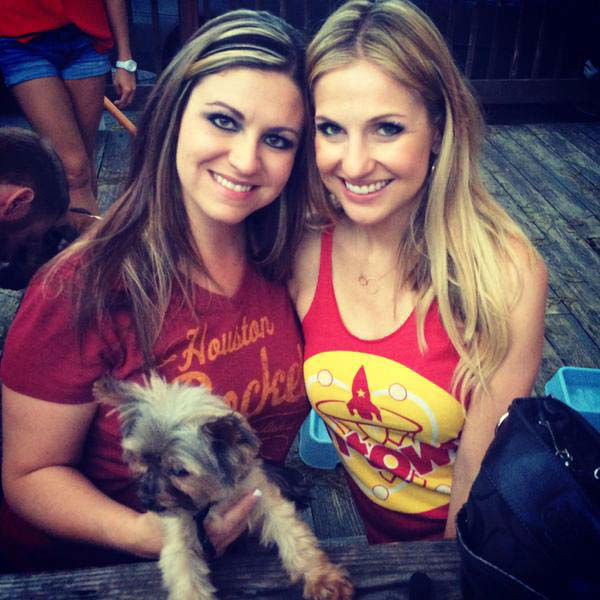 """<div class=""""meta image-caption""""><div class=""""origin-logo origin-image none""""><span>none</span></div><span class=""""caption-text"""">Katherine Whaley and a friend cheering on the Rockets (KTRK Photo)</span></div>"""