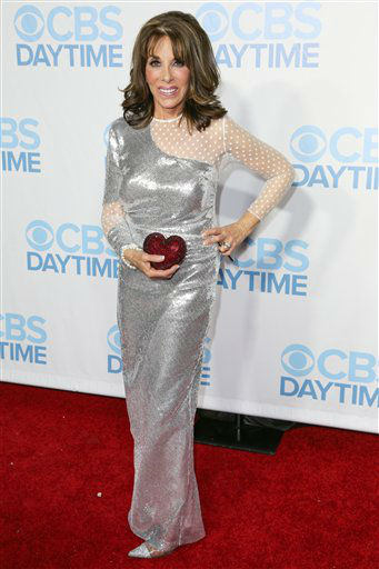 "<div class=""meta image-caption""><div class=""origin-logo origin-image none""><span>none</span></div><span class=""caption-text"">Kate Linder arrives at the 2015 Daytime Emmy Awards CBS After Party at The Hollywood Athletic Club on Sunday, April 26, 2015, in Los Angeles. (Photo by Rich Fury/Invision/AP) (AP Photo)</span></div>"