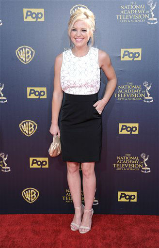 "<div class=""meta image-caption""><div class=""origin-logo origin-image none""><span>none</span></div><span class=""caption-text"">Kirsten Storms arrives at the 42nd annual Daytime Emmy Awards at Warner Bros. Studios on Sunday, April 26, 2015, in Burbank, Calif. (Photo by Richard Shotwell/Invision/AP) (AP Photo)</span></div>"