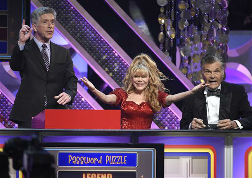 "<div class=""meta image-caption""><div class=""origin-logo origin-image none""><span>none</span></div><span class=""caption-text"">Tom Bergeron, from left, Charo and Fred Willard play Password Puzzle at the 42nd annual Daytime Emmy Awards. (Photo by Chris Pizzello/Invision/AP) (AP Photo/ Chris Pizzello)</span></div>"