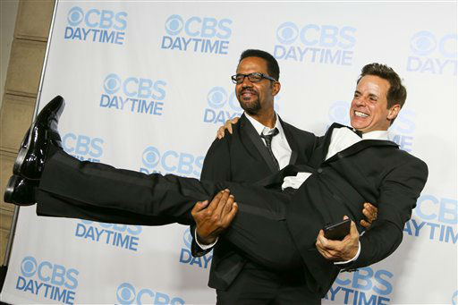 "<div class=""meta image-caption""><div class=""origin-logo origin-image none""><span>none</span></div><span class=""caption-text"">Kristoff St. John, left, and Christian LeBlanc arrive at the 2015 Daytime Emmy Awards CBS After Party. (Photo by Rich Fury/Invision/AP) (AP Photo)</span></div>"