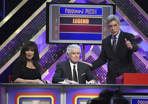 "<div class=""meta image-caption""><div class=""origin-logo origin-image none""><span>none</span></div><span class=""caption-text"">Marie Osmond, from left, Regis Philbin, and Tom Bergeron play Password Puzzle at the 42nd annual Daytime Emmy Awards (Photo by Chris Pizzello/Invision/AP) (AP Photo/ Chris Pizzello)</span></div>"