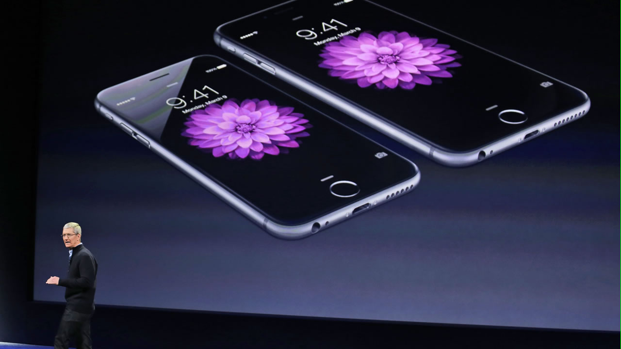 Apple CEO Tim Cook talks about the iPhone 6 and iPhone 6 Plus