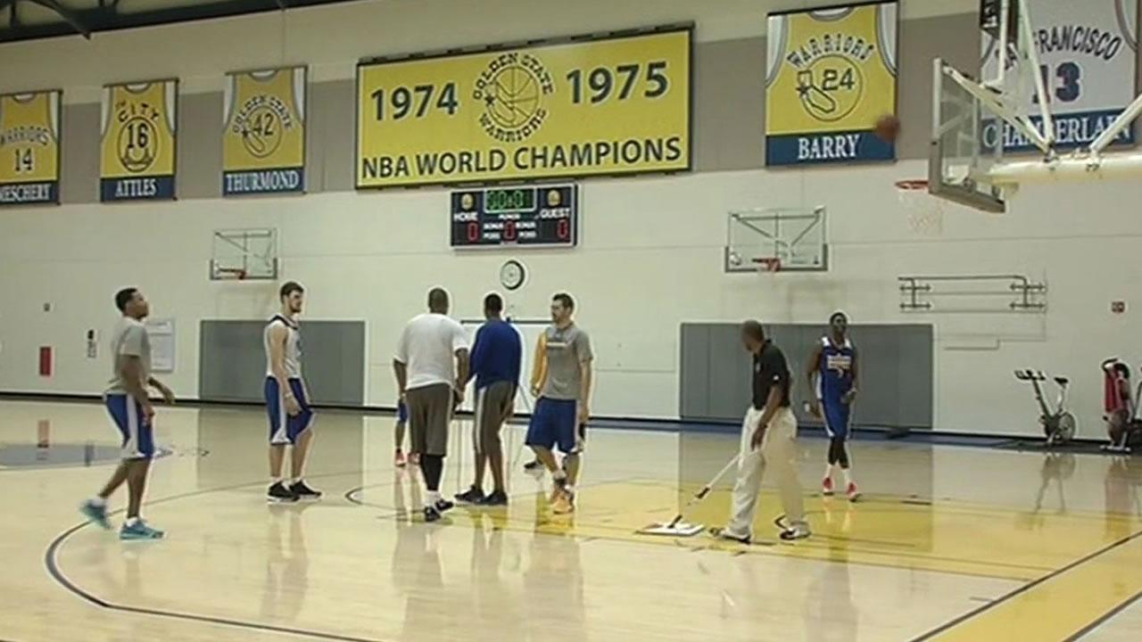 Warriors' practice