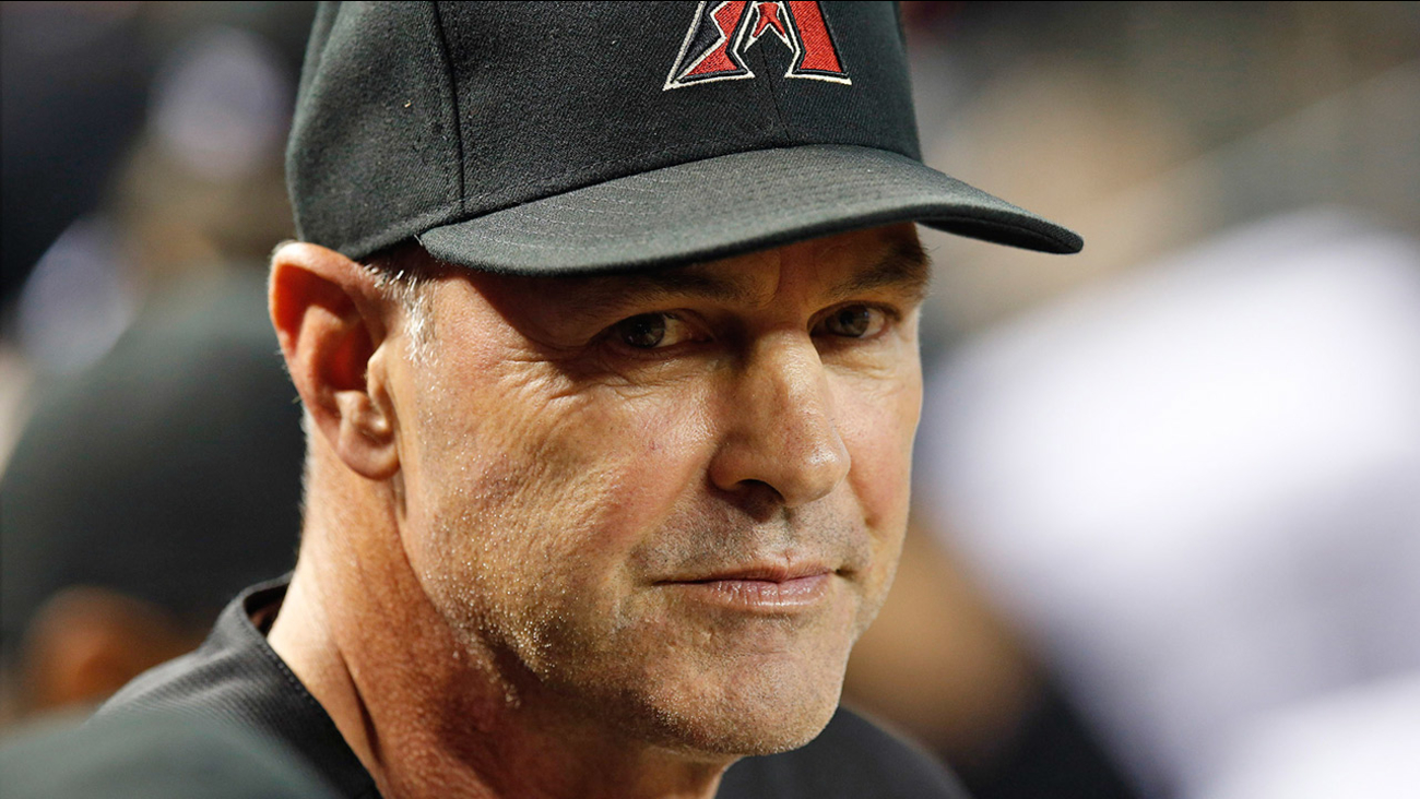 Kirk Gibson waits in the dugout prior to a Arizona Diamondbacks game against the Pittsburgh Pirates on Saturday, Aug. 2, 2014, in Phoenix.
