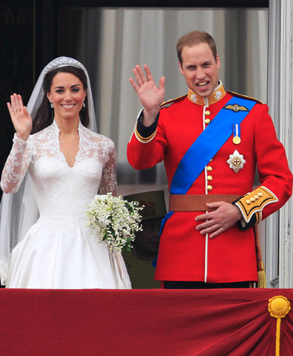 <div class='meta'><div class='origin-logo' data-origin='AP'></div><span class='caption-text' data-credit='AP'>Britain's Prince William and his wife Kate, Duchess of Cambridge wave from the balcony of Buckingham Palace after the Royal Wedding in London Friday, April, 29, 2011.</span></div>