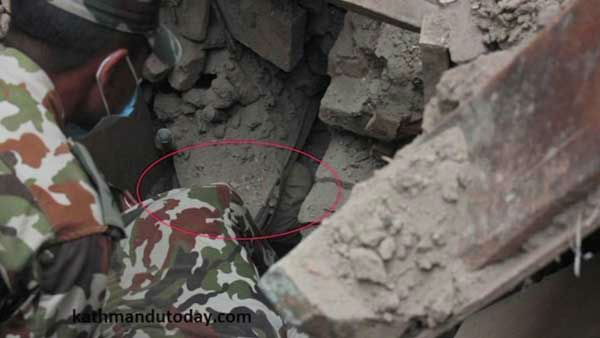 """<div class=""""meta image-caption""""><div class=""""origin-logo origin-image none""""><span>none</span></div><span class=""""caption-text"""">Soldiers rescued a 4-month-old baby from rubble left by the devastating earthquake in Nepal. (WLS Photo)</span></div>"""