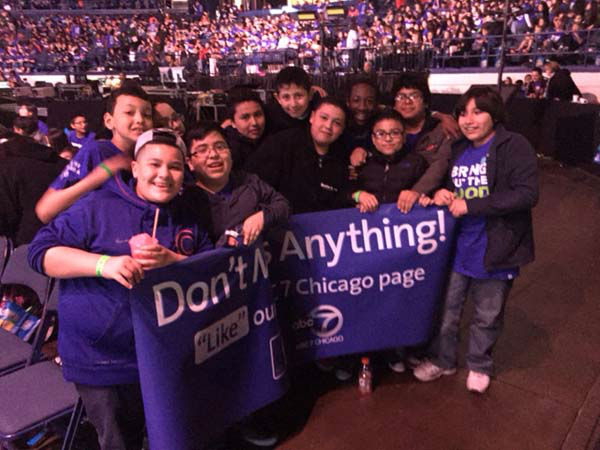"""<div class=""""meta image-caption""""><div class=""""origin-logo origin-image none""""><span>none</span></div><span class=""""caption-text"""">About 15,000 students and teachers attended We Day Illinois on April 30, 2015, at Allstate Arena. (WLS Photo)</span></div>"""