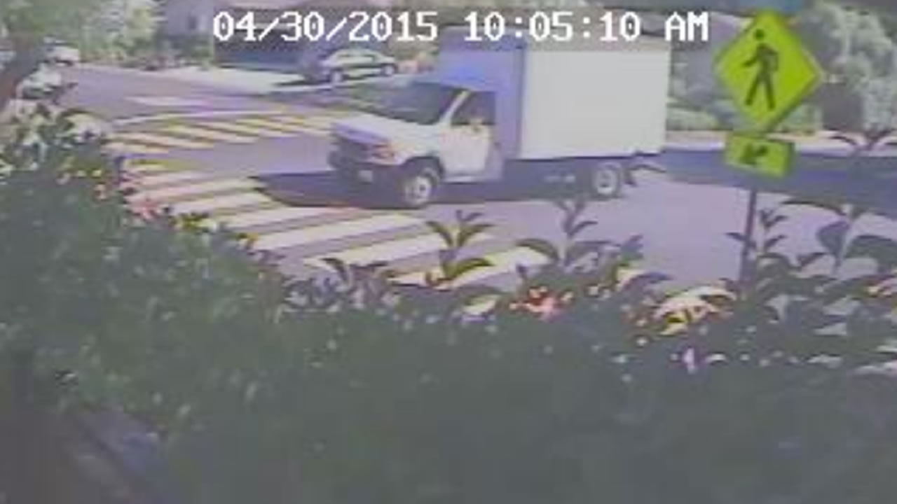 Surveillance video of box truck