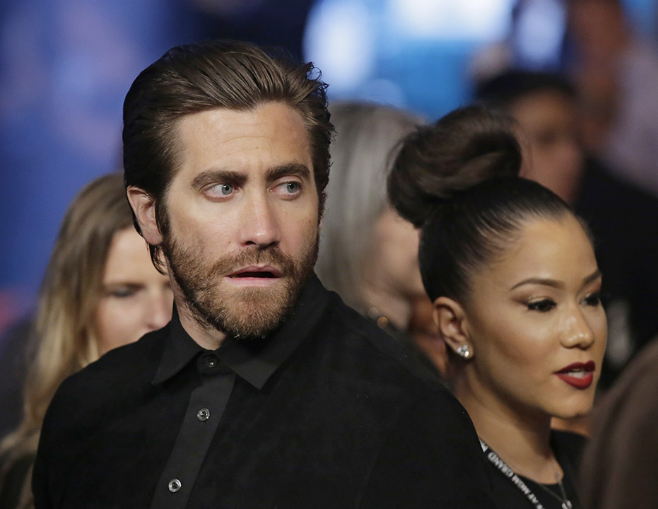 <div class='meta'><div class='origin-logo' data-origin='none'></div><span class='caption-text' data-credit='AP Photo/Isaac Brekken'>Actor Jake Gyllenhaal watches the action before the start of the bout between Floyd Mayweather Jr., and Manny Pacquiao, on Saturday, May 2, 2015</span></div>