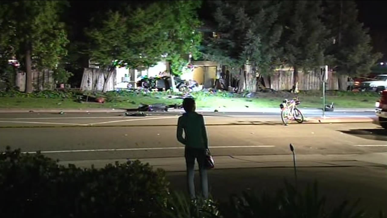 A mother and child were killed when an alleged drunk driver crashed into an apartment complex in Livermore, Calif. on May 2, 2015.